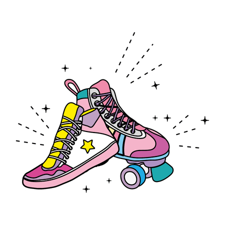 color roller skate style and fashion sneaker