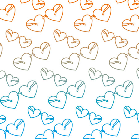 degraded line glasses object with heart style background vector illustration