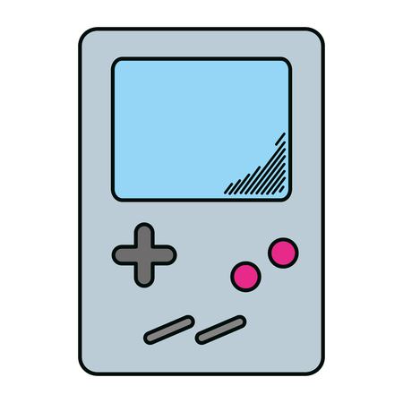 electronic tetris handheld game console vector illustration