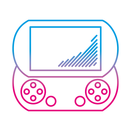 degraded line electronic handheld game console simulador vector illustration Ilustração