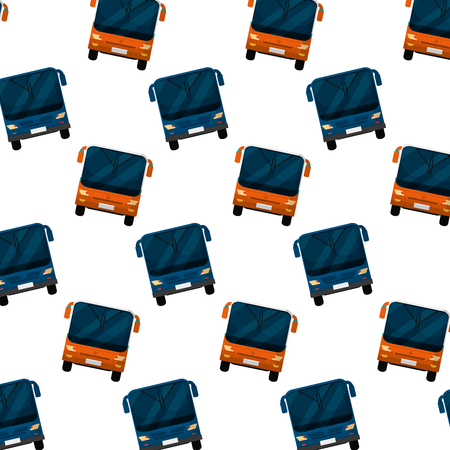 front city bus transport background vector illustration Illustration