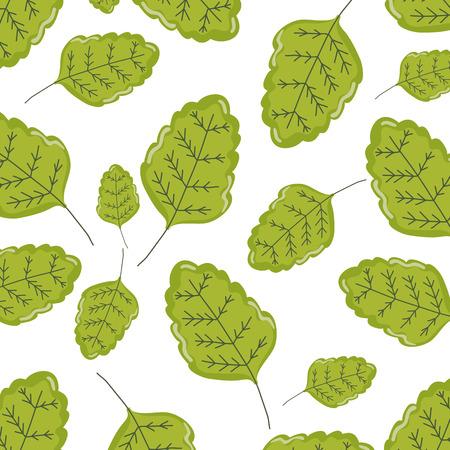 natural leaf tropical style background vector illustration Illustration