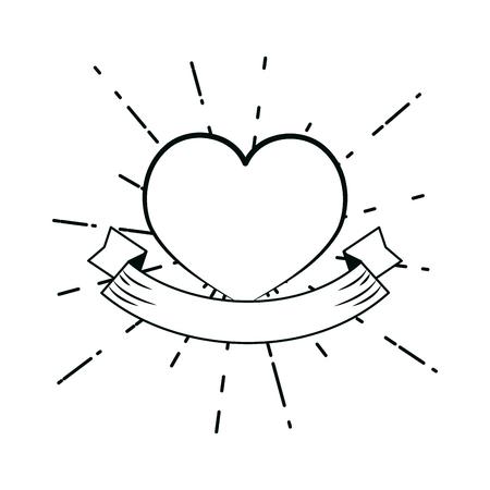 Heart hand draw cartoons vector illustration graphic design