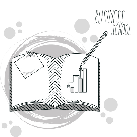 Hand draw business school cartoons concept vector illustration graphic design