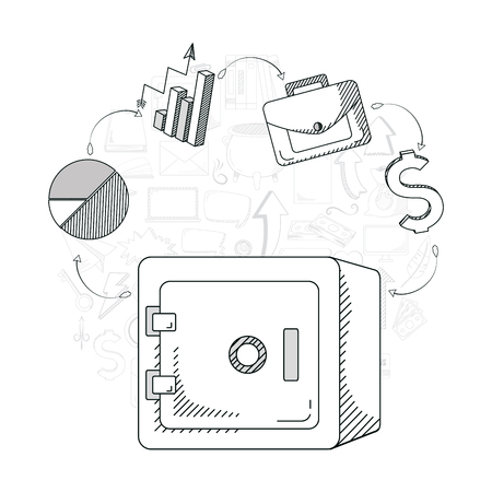Hand draw business concept vector illustration graphic design