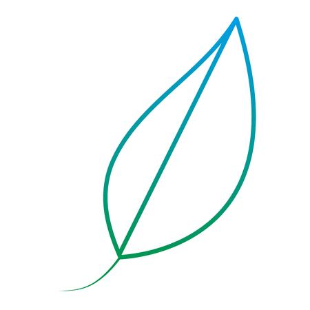 ligne exotique feuille naturelle plante luxuriante plante illustration vectorielle