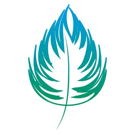 ligne exotique feuille exotique plante luxuriante plante illustration vectorielle