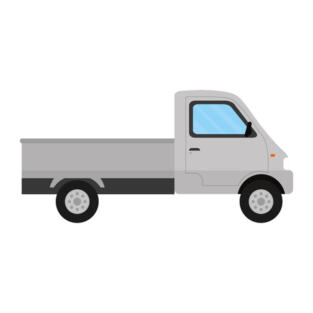 truck transport vehicle delivery service vector illustration