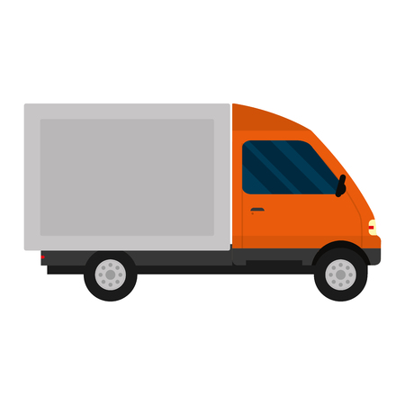 truck vehicle service delivery transport vector illustration Illustration