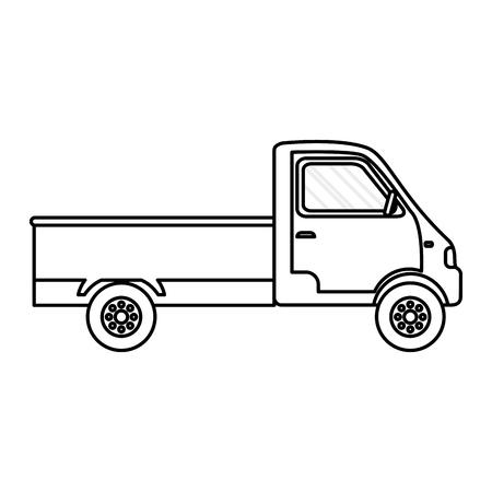 line truck transport vehicle delivery service Illustration
