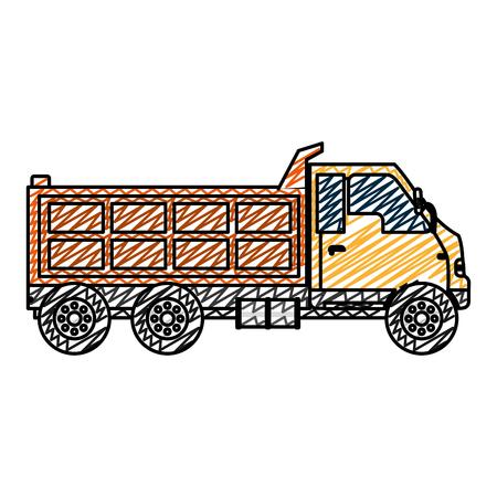 doodle truck service vihicle delivery transport