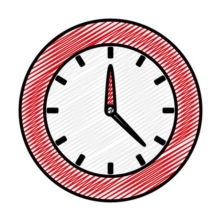 doodle circle clock time object design