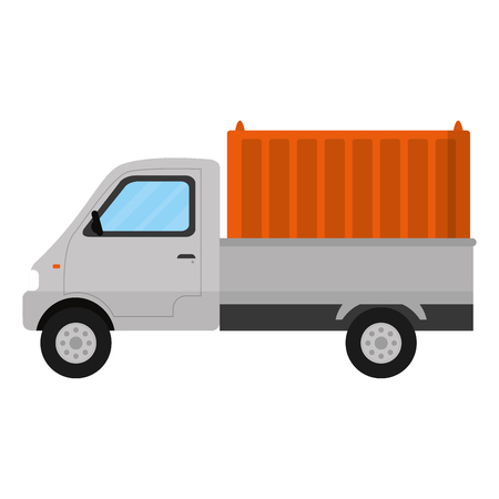 delivery truck container transport service vector illustration Illustration