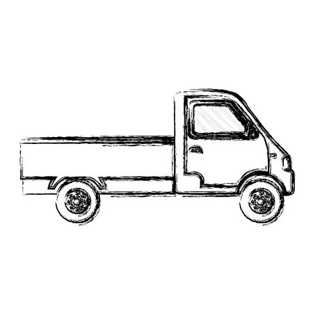 grunge truck transport vehicle delivery service vector illustration Illustration