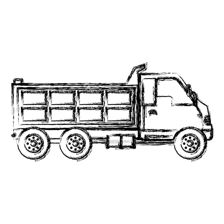 grunge truck service vihicle delivery transport vector illustration