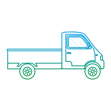 degraded line truck transport vehicle delivery service vector illustration