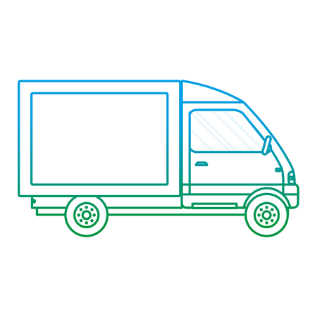 degraded line truck vehicle service delivery transport vector illustration