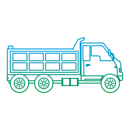 degraded line truck service vihicle delivery transport vector illustration Illustration