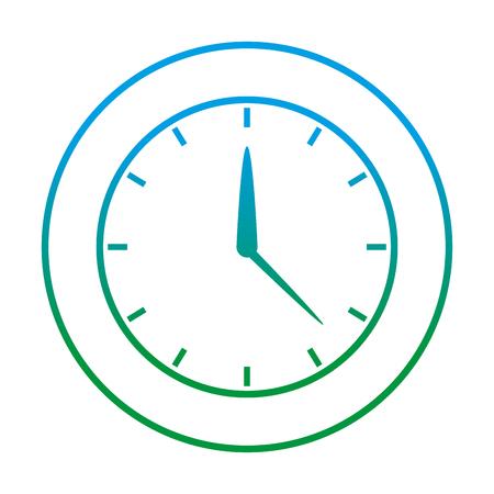 degraded line circle clock time object design vector illustration