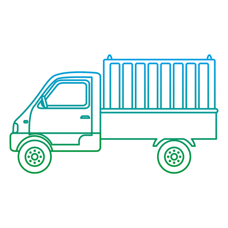 degraded line delivery truck container transport service vector illustration Ilustrace