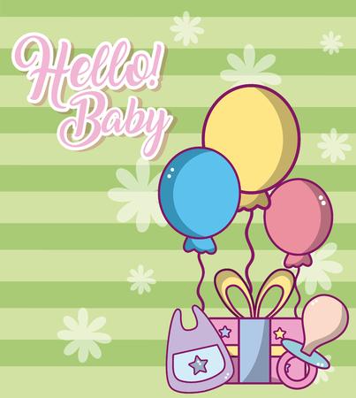 bonjour bébé carte mignonne
