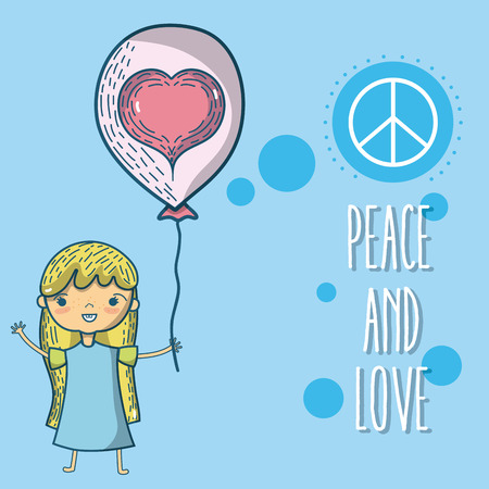 Peace and love cartoons Stock Vector - 102035207