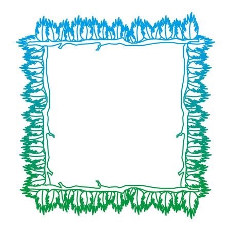 ligne dégradée carré feuilles de plantes tropicales naturelles