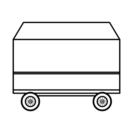 line luggage container transportation airport cargo vector illustration