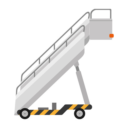 color airport stair travel object service vector illustration