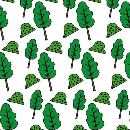 tree stalk branch and nature bush background vector illustration