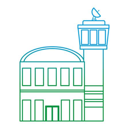 illustration vectorielle de ligne dégradée bâtiment moderne architecture ville urbaine