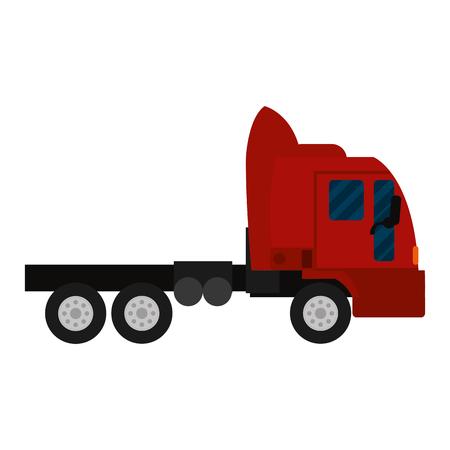 side truck transport service vehicle vector illustration
