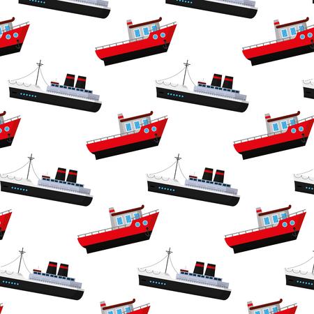 ship transport sea vehicle background vector illustration