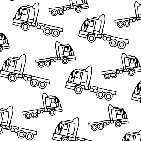 line side truck transport vehicle backkground vector illustration