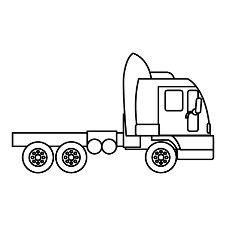 line side truck transport service vehicle vector illustration Ilustrace