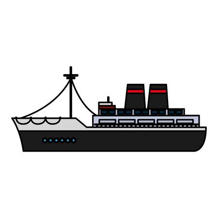 color luxury ship marine transport style vector illustration Illustration