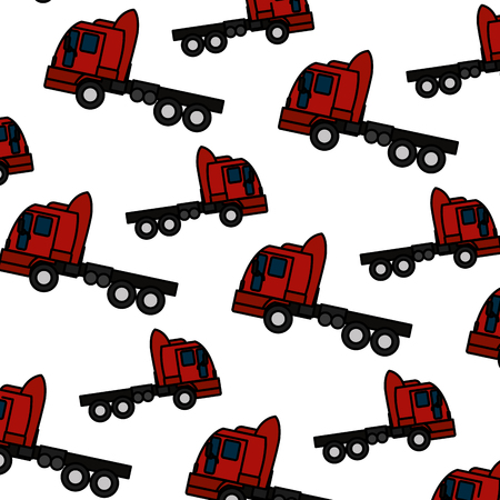 color side truck transport vehicle backkground vector illustration Illustration