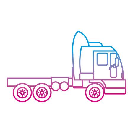 degraded line side truck transport service vehicle vector illustration