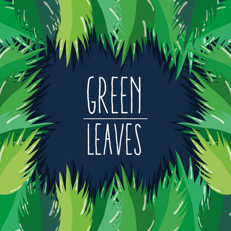 Green leaves and ecology cartoon vector illustration graphic design Vectores