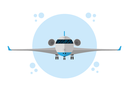 Airplane jet isolated Illustration