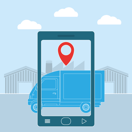 Delivery from smartphone Illustration