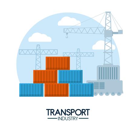 Maritime transport industry Stock Vector - 102176344