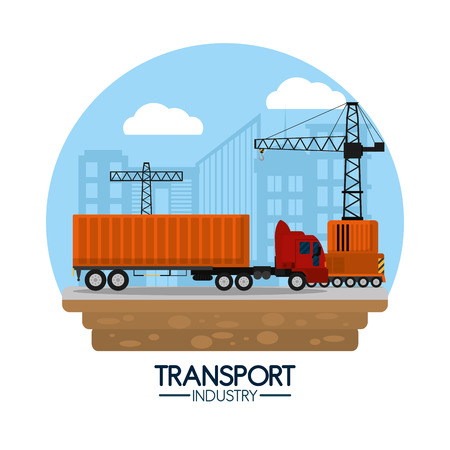 Delivery transport industry Illustration