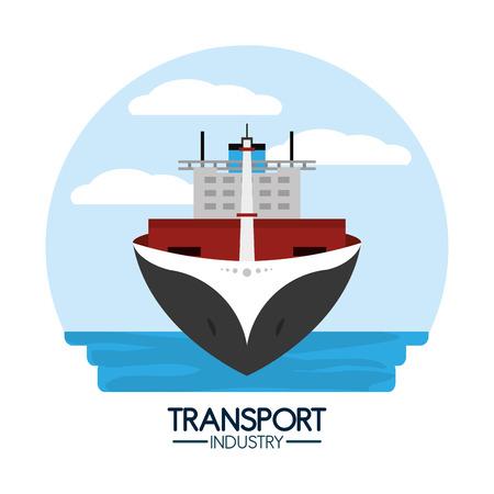 Maritime transport industry Stock Vector - 102176275