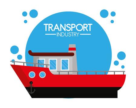 Maritime transport industry Stock Vector - 102176276