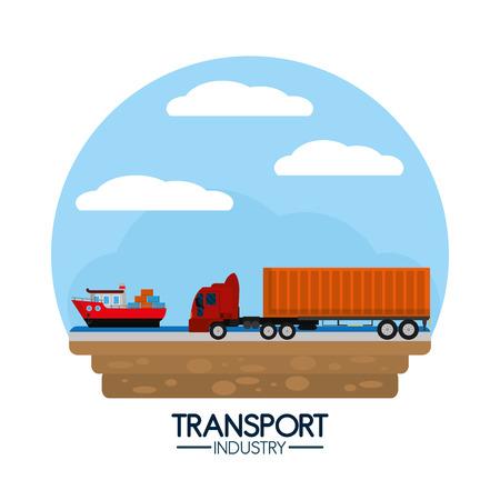 Maritime transport industry Stock Vector - 102176245