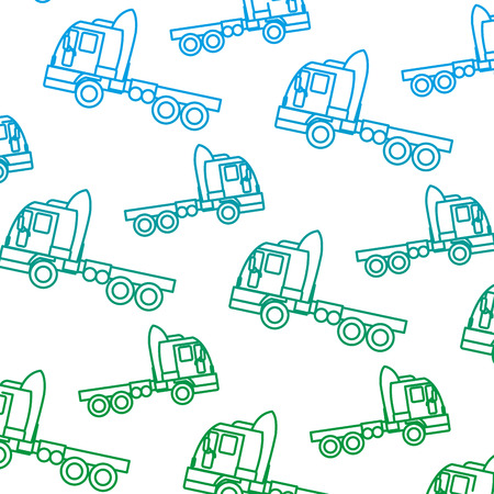 degraded line side truck transport vehicle backkground vector illustration