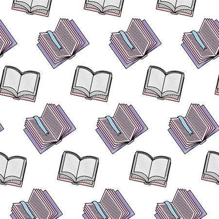 doodle open books education object background vector illustration 矢量图像