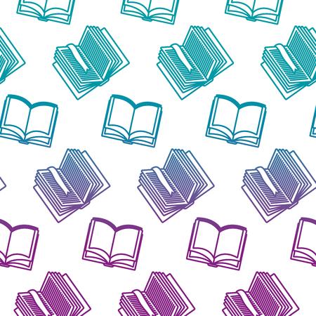 ligne dégradée livres ouverts fond d & # 39; objet d & # 39; éducation
