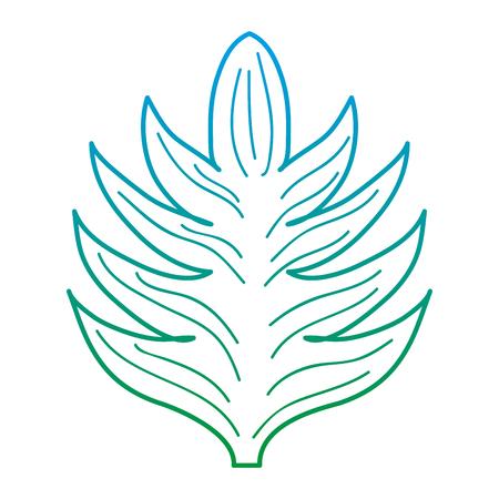 degraded line exotic leaf nature plant style Illustration